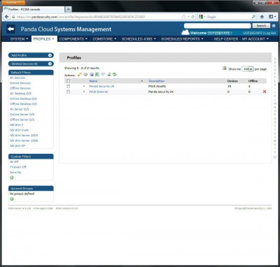 Panda Cloud Systems Management 4.4.1 screenshot
