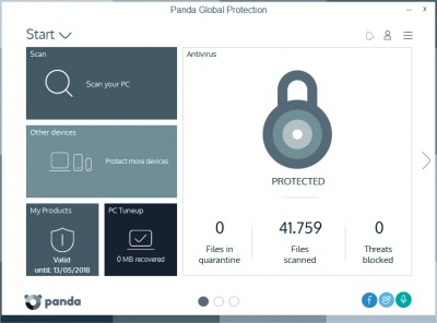 Panda Global Protection 2017 screenshot