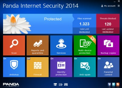 Panda Internet Security 2017 screenshot