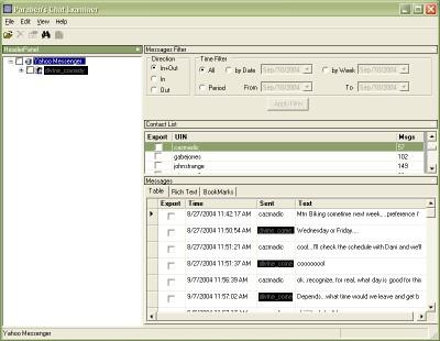 Paraben's Chat Examiner 3.1 screenshot