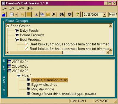 Paraben's Diet Tracker 3.0.1 screenshot