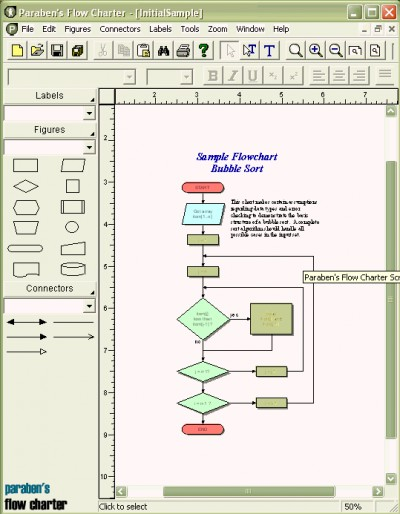 Paraben's Flow Charter 5.07 screenshot