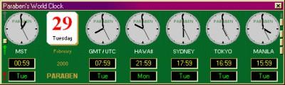Paraben's World Clock 2.0 screenshot