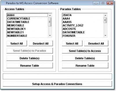 Paradox to MS Access Conversion Software 7.0 screenshot