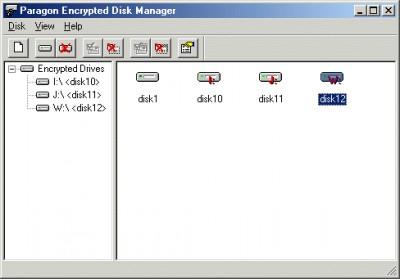 Paragon Encrypted Disk Personal 2.0 screenshot