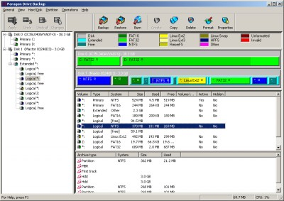 Paragon Hard Disk Manager (Personal) 6.0 screenshot