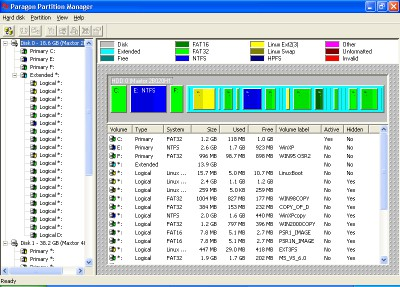 Paragon Partition Manager 7.0 screenshot