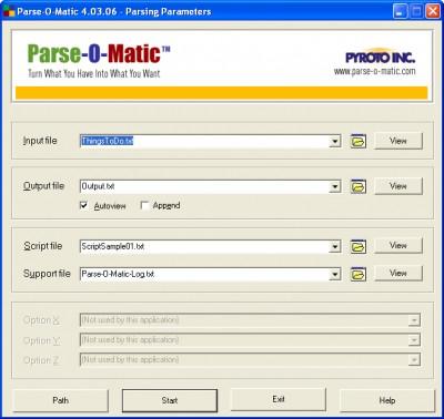 Parse-O-Matic Free Edition 5.00.04 screenshot