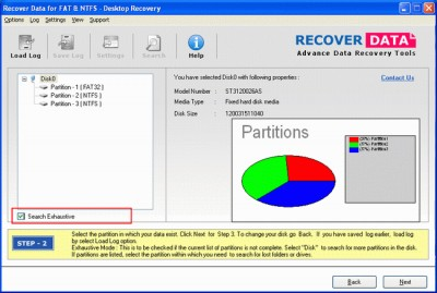 Partition Recovery Software 3.0 screenshot