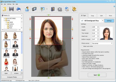 Passport Photo Maker 8.35 screenshot
