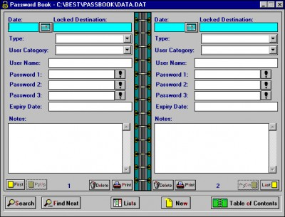 Password Book 5.1 screenshot