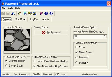 Password Protected Lock 2.92 screenshot