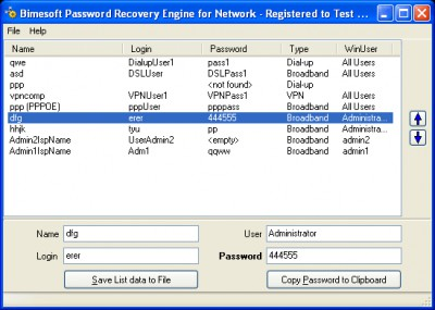 Password Recovery Engine for Network Connections 1.1 screenshot
