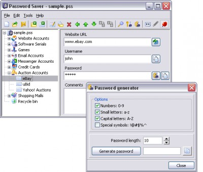 Password Saver 4.1.1 screenshot