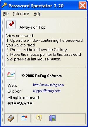 Password Spectator Pro 3.10 screenshot