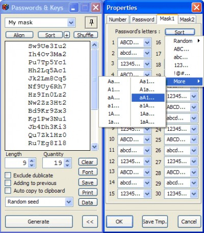 Passwords & Keys 1.40 screenshot