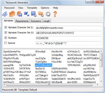 Passwords Generator 3.38 screenshot