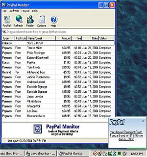 PayPal Monitor 2.0.3 screenshot