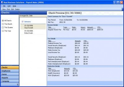 Payroll Software 4.0.20 screenshot