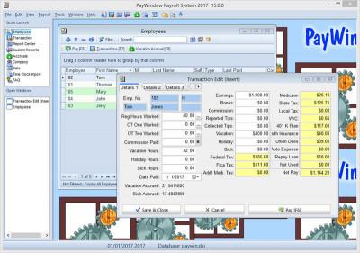 PayWindow Payroll System 15.0.0 screenshot