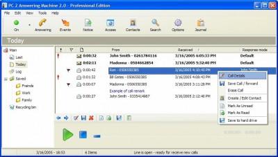 PC 2 Answering Machine 2.1 screenshot