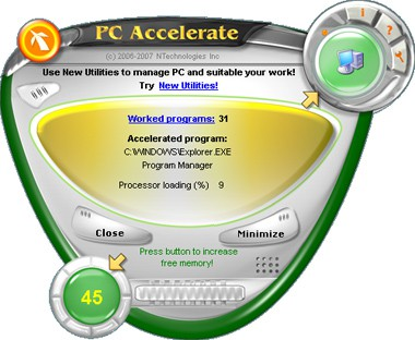 PC Accelerate 3.0 screenshot