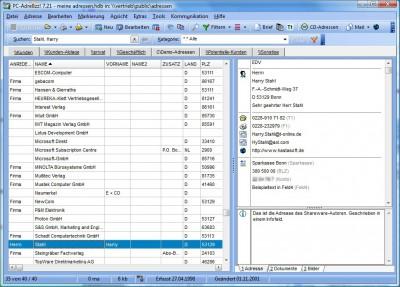 PC-Adreßzz! 8.0 screenshot