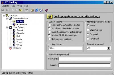 PC LockUp 2.1 screenshot