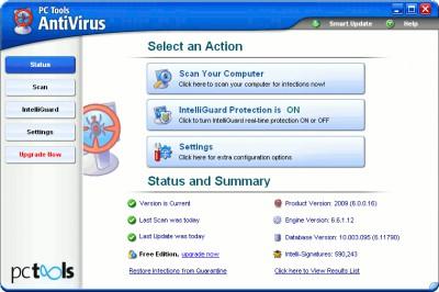 PC Tools AntiVirus 6.1 screenshot