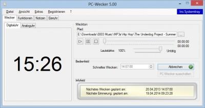 PC-Wecker 5.00 screenshot