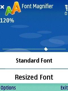 Скриншоты программы Pciloc Font Magnifier.