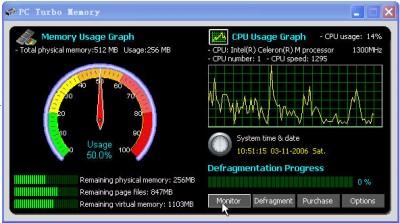 PCTurbo Memory 1.0.2 screenshot