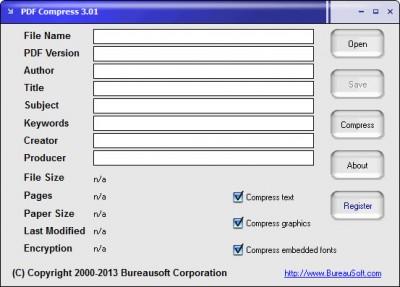 PDF Compress 3.02 screenshot