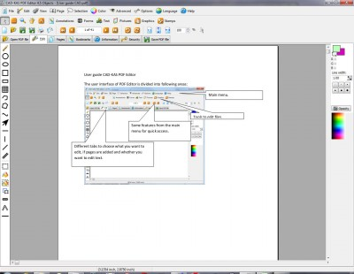 PDF Editor Objects 5.5 screenshot
