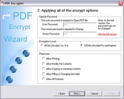 PDF Encrypt Tool 3.50 screenshot