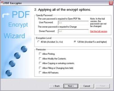 PDF Encrypt Tool 3.50 screenshot