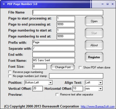 PDF Page Number 3.0 screenshot