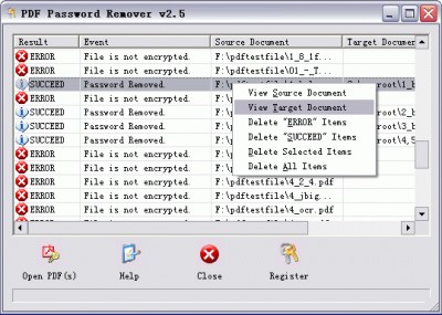 PDF Password Remover 4.0 screenshot