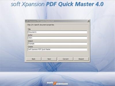PDF Quick Master 5.0 screenshot