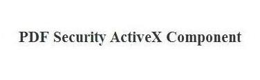 PDF Security ActiveX 2.0.2015.4 screenshot