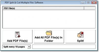 PDF Split & Cut Multiple Files Software 7.0 screenshot