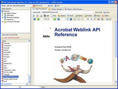 PDF Split Merge Page Box 1.0 screenshot