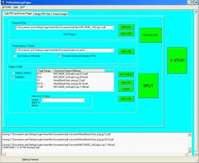Pdf Split Merge Pages 1.60 screenshot
