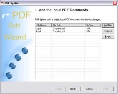 PDF Splitter 3.00 screenshot