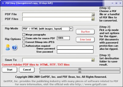 PDF2Any 5.0 screenshot