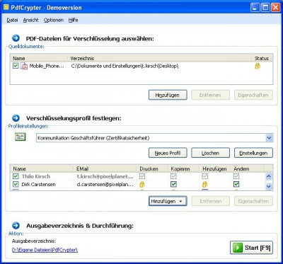 PdfCrypter 2.9.0.1 screenshot