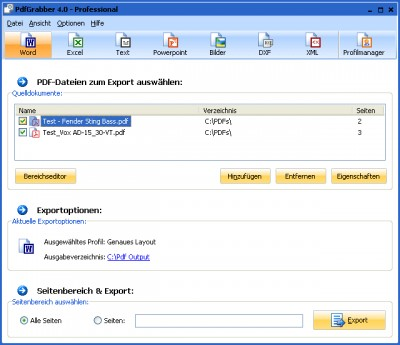 PdfGrabber 4.0 4.0.0.10 screenshot