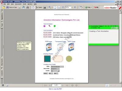 PDFOne Java Free 2.10 screenshot