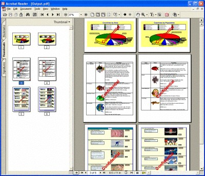 PDFtoolkit VCL 2.50 screenshot