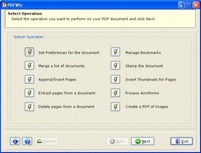 PDFWiz 1.1 screenshot